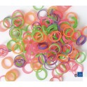 Show Tech Latex Bands Neon Medium 1000 pcs Top Knot Bands
